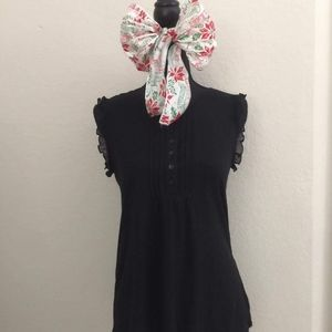Guess Black womens sleeveless blouse Size S